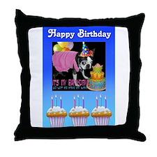 HAPPY BIRTHDAY BOSTON LOOK Throw Pillow