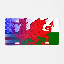 Cute Welsh Aluminum License Plate
