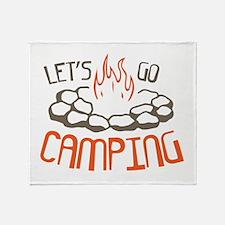 Cute Camp Throw Blanket