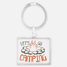 Cute Camp Landscape Keychain