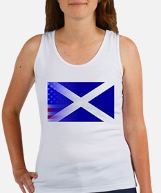 Scottish Flag Stars and Stripes Tank Top