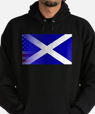 Scottish Flag Stars and Stripes Hoodie (dark)