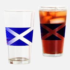 Scottish Flag Stars and Stripes Drinking Glass