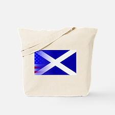 Scottish Flag Stars and Stripes Tote Bag