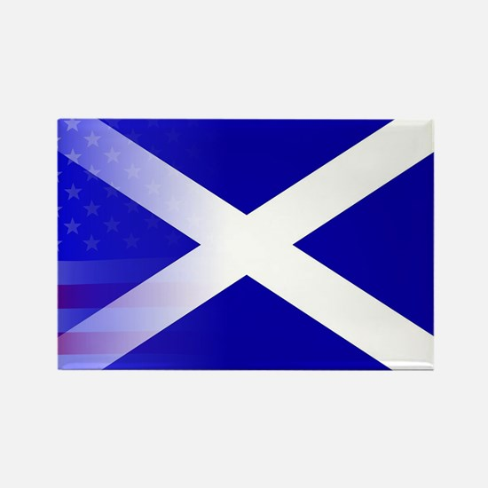 Scottish Flag Stars and Stripes Magnets
