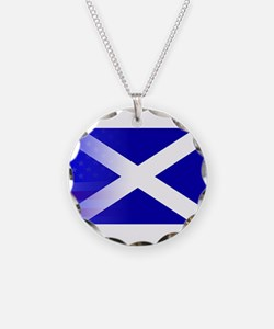 Scottish Flag Stars and Stri Necklace