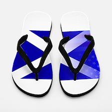 Scottish Flag Stars and Stripes Flip Flops