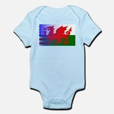 Wales Dragon Stars and Stripes Body Suit