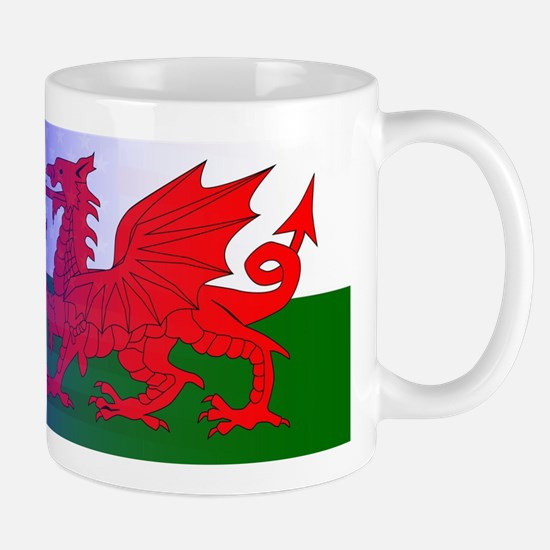 Wales Dragon Stars and Stripes Mugs