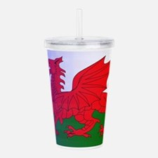 Wales Dragon Stars and Acrylic Double-wall Tumbler