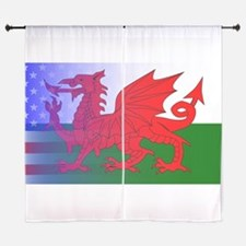 Wales Dragon Stars and Stripes Curtains