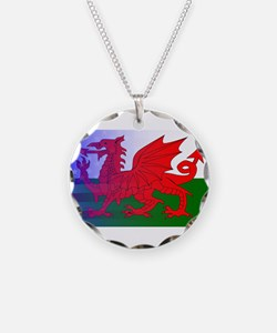 Wales Dragon Stars and Strip Necklace