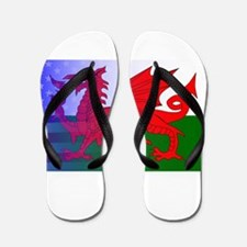 Wales Dragon Stars and Stripes Flip Flops