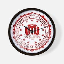 FBI Rubber Stamp Wall Clock