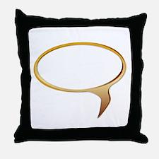 Blank Speech Bubble Throw Pillow
