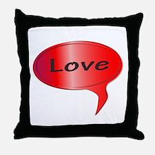 Love Speech Bubble Throw Pillow