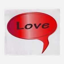 Love Speech Bubble Throw Blanket