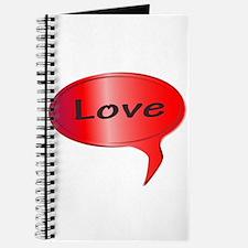 Love Speech Bubble Journal
