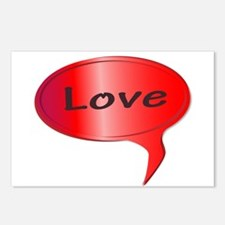 Love Speech Bubble Postcards (Package of 8)