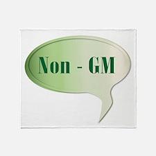Non GM Speech Bubble Throw Blanket