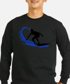 Wave Surfing Long Sleeve T-Shirt