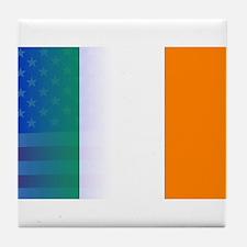Irish Flag Stars and Stripes Tile Coaster