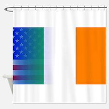 Irish Flag Stars and Stripes Shower Curtain