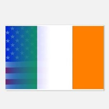 Irish Flag Stars and Stri Postcards (Package of 8)