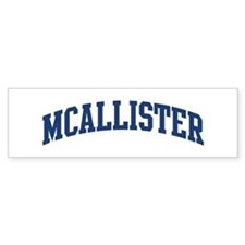 MCALLISTER design (blue) Bumper Car Car Sticker