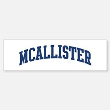 MCALLISTER design (blue) Bumper Car Car Sticker