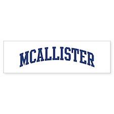 MCALLISTER design (blue) Bumper Car Sticker