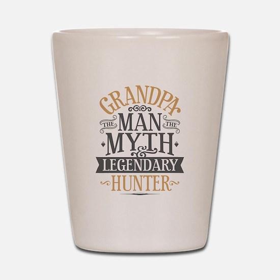 Grandpa Hunter Shot Glass