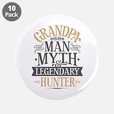 "Grandpa Hunter 3.5"" Button (10 pack)"