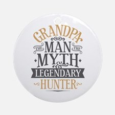 Grandpa Hunter Round Ornament