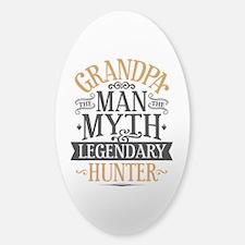 Grandpa Hunter Sticker (Oval)