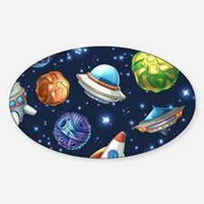 Cartoon Space Decal