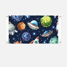 Cartoon Space Banner
