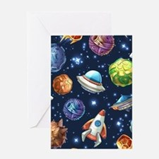 Cartoon Space Greeting Cards