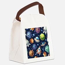 Cartoon Space Canvas Lunch Bag