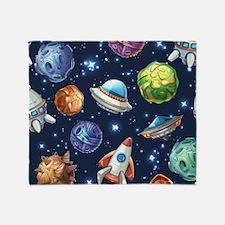 Cartoon Space Throw Blanket