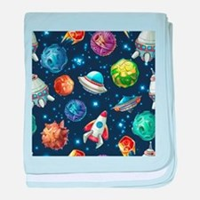 Cartoon Space baby blanket