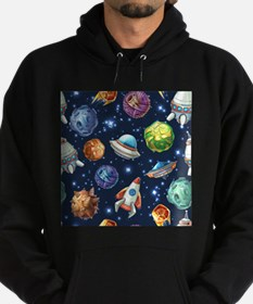 Cartoon Space Hoodie