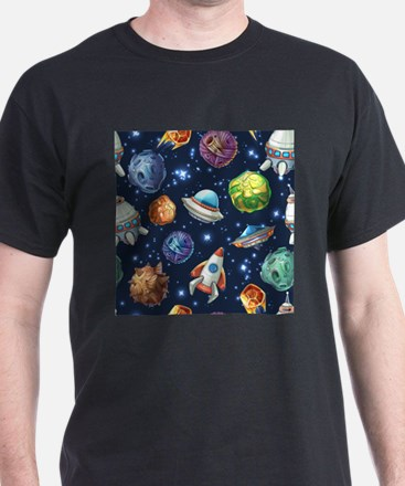 Cartoon Space T-Shirt