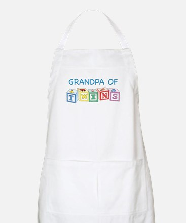 Grandpa of Twins BBQ Apron
