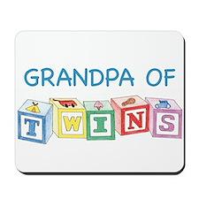 Grandpa of Twins Mousepad