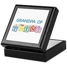Grandpa of Twins Keepsake Box