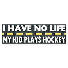 My Kid Plays Hockey Bumper Car Sticker