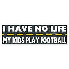 My Kids Play Football Bumper Bumper Sticker
