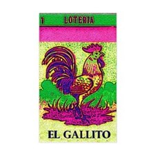 Loteria Rooster Rectangle Decal