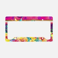 Tropical Watercolor License Plate Holder